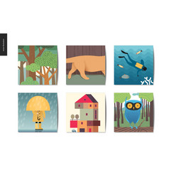 Simple things - postcards vector