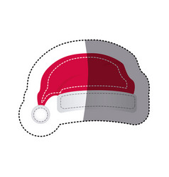 sticker shading santa christmas hat icon design vector image