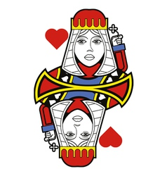 Stylized Queen of Hearts no card vector image