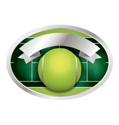 Tennis Ball and Banner vector image