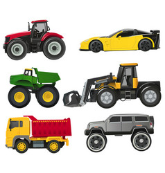 toy automobiles vector image