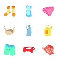 Underwear icons set cartoon style vector image