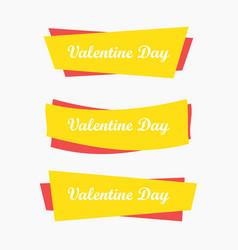 valentine day banner icon vector image