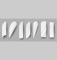 white blank feather flags vertical banners stand vector image