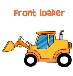 Yellow front loader of vector image