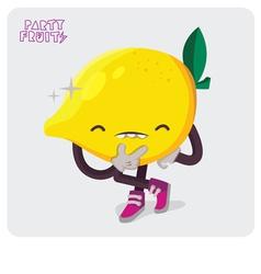 Yellow Lemon Character Isolate vector image