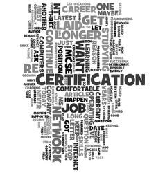 your it career beware the comfort zone text word vector image