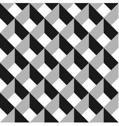 3d abstract seamless pattern grey grid vector image vector image