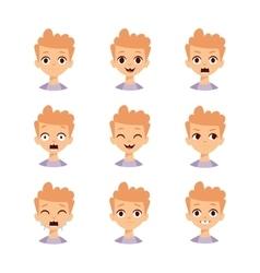 Boy emotions face vector image