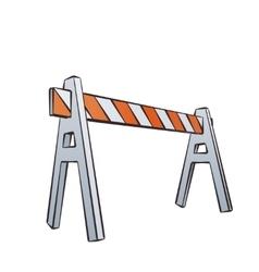 Cartoon Traffic Barrier vector image vector image
