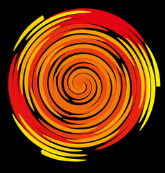 Color spiral on a black background abstraction vector