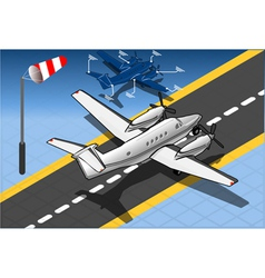 Isometric White Private Plane vector image vector image