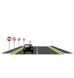 road confusion vector image vector image