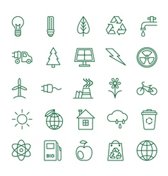Icons Ecology and Environment vector image