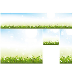 spring website banner collection vector image