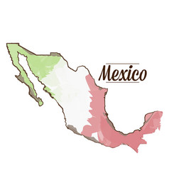 isolated mexican map vector image vector image