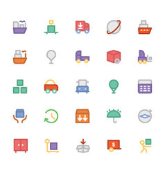 Logistics delivery Colored Icons 6 vector image