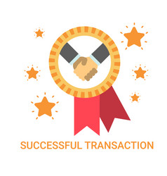 successful transaction icon business men handshake vector image vector image