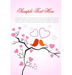 valentine card with birds vector image