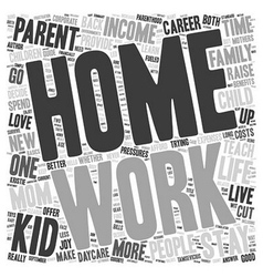 Are stay at home moms better text background vector