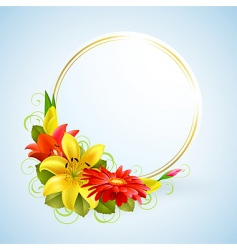 flowers and place for text vector image vector image