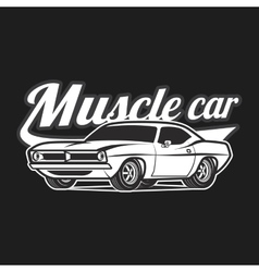 Muscle car cartoon classic poster t-shirt vector image