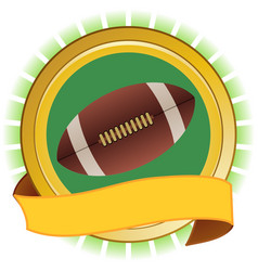 rugby american football round shield and banner vector image vector image