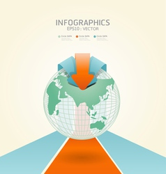 soft color infographics vector image vector image