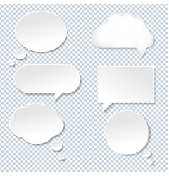 speech bubble with old paper vector image