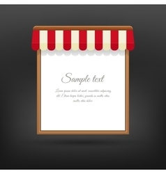 Store striped awning vector image