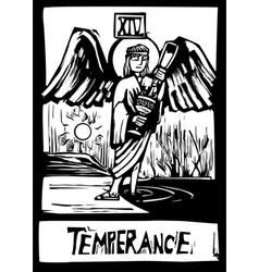 Tarot card for Temperance vector image vector image