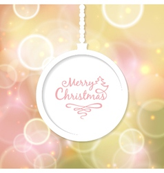 White Christmas ball with the inscription vector image