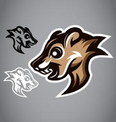 Wild squirrel head gray logo 2901 vector