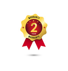 2 year warranty template design vector