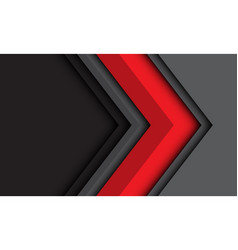 Abstract red grey arrow direction with dark vector