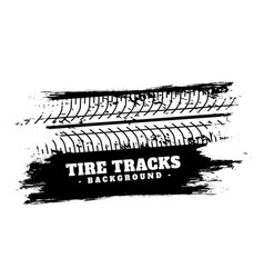 Abstract vehicle tire track impression background vector