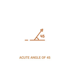 Acute angle 45 degrees concept 2 colored icon vector