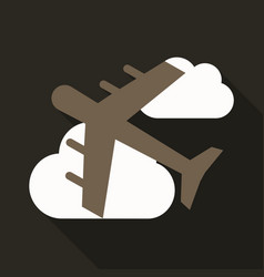 Aircraft icon travel isolated on background flat vector