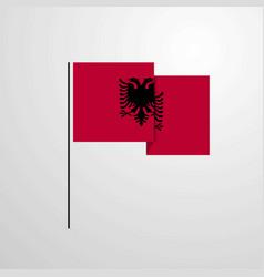 Albania waving flag design background vector