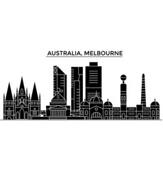 australia melbourne architecture city vector image