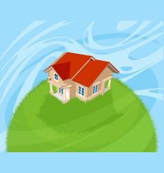 beautiful house outside vector image