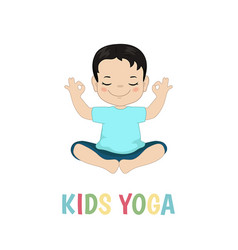 Children yoga logo children yoga logo vector