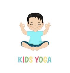children yoga logo children yoga logo vector image