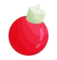 Christmas ball icon cartoon style vector image