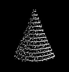 christmas tree from lights design isolated on vector image