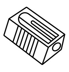 Classic sharpener icon outline style vector