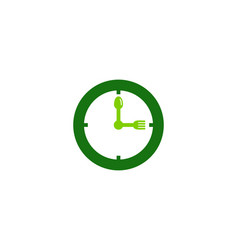 clock food logo icon design vector image
