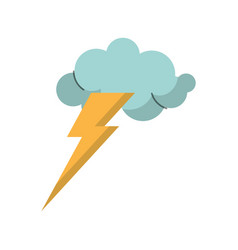 cloud lightning idea icon vector image