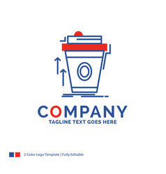 Company name logo design for product promo coffee vector
