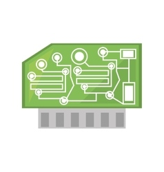 Computer hardware processor card vector